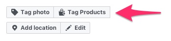Clicking the Tag Products button