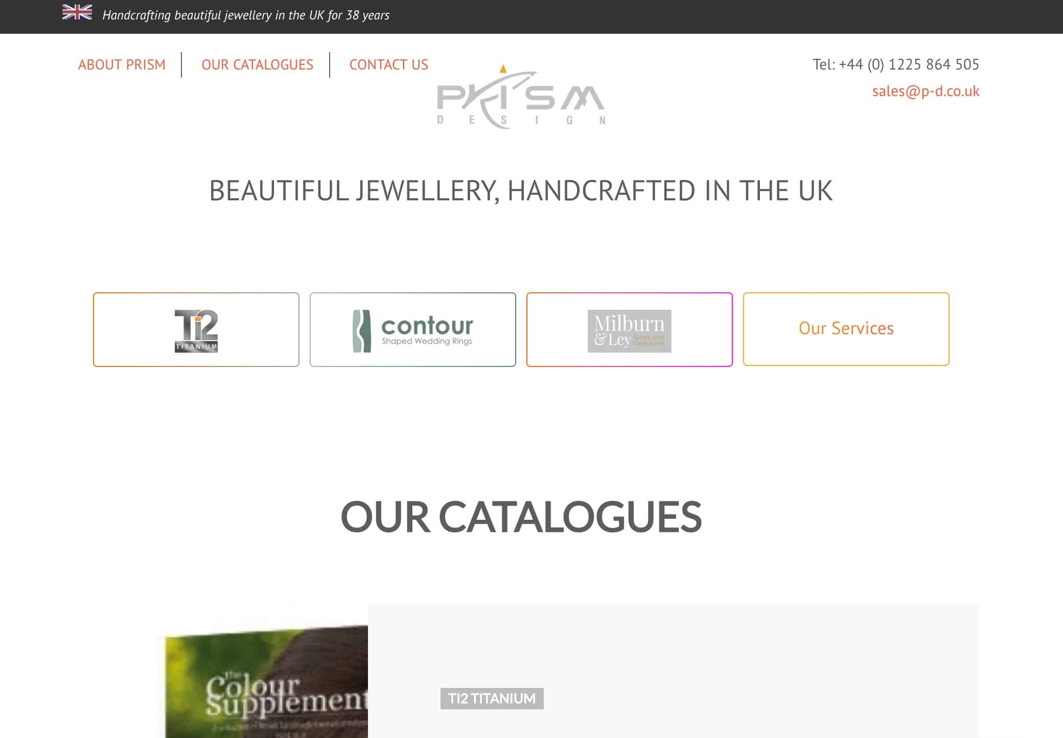 screenshot Prism Jewellery Design
